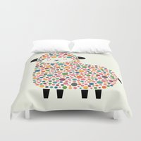 bubble Duvet Covers featuring Bubble Sheep by Andy Westface