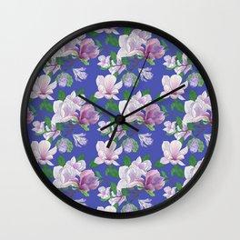 Magnolia Floral Print Wall Clock