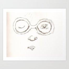 Glasses Girl Art Print