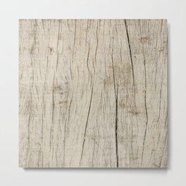 Vintage wood texture Metal Print