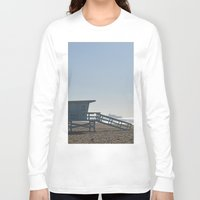 santa monica Long Sleeve T-shirts featuring Santa Monica Beach by Danny T