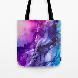 Abstract Vibrant Rainbow Ombre Tote Bag