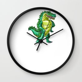 Crocodile Son Alligator Reptile Animal Wall Clock
