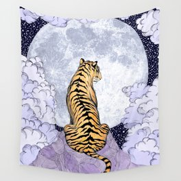 Tiger Moon | Colour Version Wall Tapestry