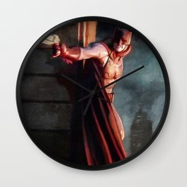 The Caped Crusader Swings Through Gotham Wall Clock