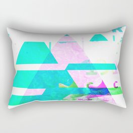 GLITCH NATURE #90: Tobermory Rectangular Pillow