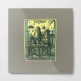 Retro World Metal Print