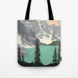 Moraine Lake Poster Tote Bag