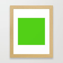 Simple Solid Color Yellow Green All Over Print Framed Art Print