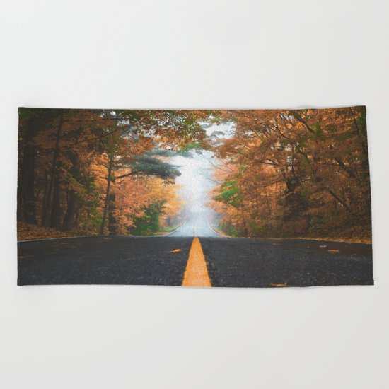 Road sweet road Beach Towel