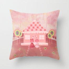 Candy Fields (Hansel & Gretel) Throw Pillow