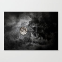 Black Night Canvas Print