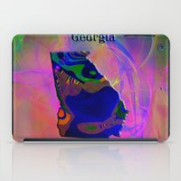 georgia iPad Cases featuring Georgia Map by Roger Wedegis