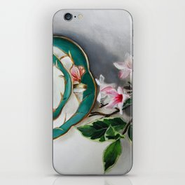 Tea and Blossoms iPhone Skin