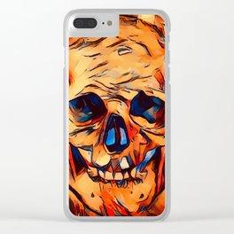 The Original Skull Clear iPhone Case