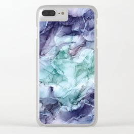 Growth- Abstract Botanical Fluid Art Painting Clear iPhone Case