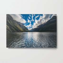 Dramatic clouds in the morning at Milford Sound Metal Print