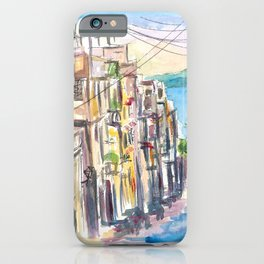 San Juan Puerto Rico Street Scene With Harbour View iPhone Case