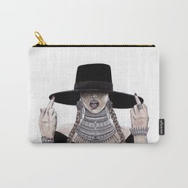 Middle fingers up watercolour painting Carry-All Pouch