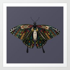 swallowtail butterfly dusk Art Print