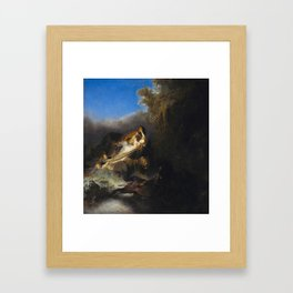 The Rape of Proserpine Framed Art Print