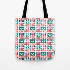 ABC 123 Tote Bag