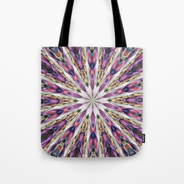 Purple Kaleidoscope Abstract Retro Groovy Tote Bag