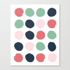 Painted dots abstract minimal modern art print for minimalist home decor nursery Canvas Print
