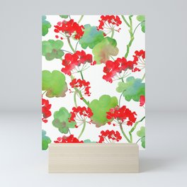 Watercolour Pelargonium (Geranium) Mini Art Print