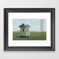 sky ladder Framed Art Print