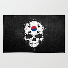 Flag of South Korea on a Chaotic Splatter Skull Rug
