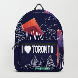I heart Toronto (navy) Backpack