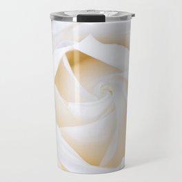 White rose flower Travel Mug