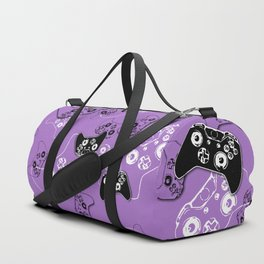Video Game Lavender Duffle Bag