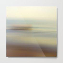 Ocean wind. Abstract sea blurred design Metal Print