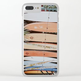 lets surf ii Clear iPhone Case