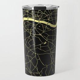 London Black on Yellow Street Map Travel Mug