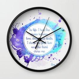 Jim Morrison's quote Wall Clock