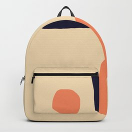 Coral and Blue Backpack