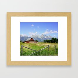 Mountain Barn Framed Art Print