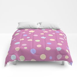 Cute Coloured Polka Dot Pattern Design Comforters