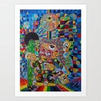 El Chaman Chavin Art Print