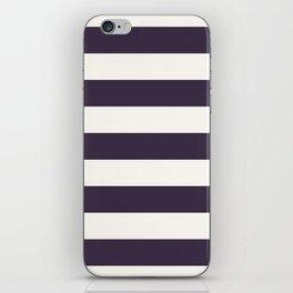 summer beach coastal nautical french fashion navy blue stripes iPhone Skin