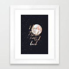 I Love you to the moon and back II Framed Art Print