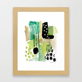 Garden Fern Abstract Framed Art Print