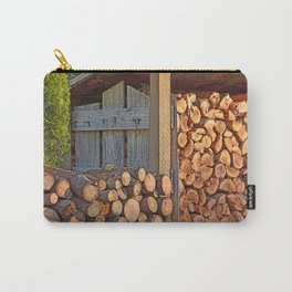 AUTUMN GLOW WOOD PILE Carry-All Pouch