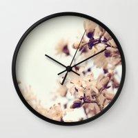 magnolia Wall Clocks featuring Magnolia by Dena Brender Photography