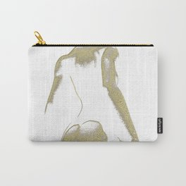 Golden Seated Goddess white version Carry-All Pouch