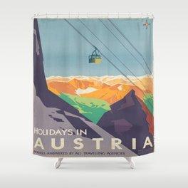 Vintage poster - Austria Shower Curtain