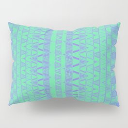 Aztec pattern in turquoise Pillow Sham
